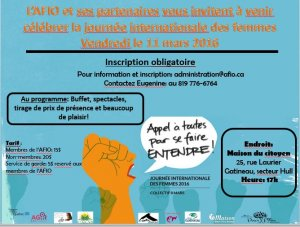 Journee internationale des femmes: Une invitation